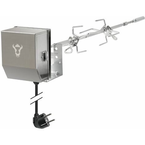 BBQ-Toro Set de tournebroche en acier inox | Pour Weber Spirit II 200 et 300
