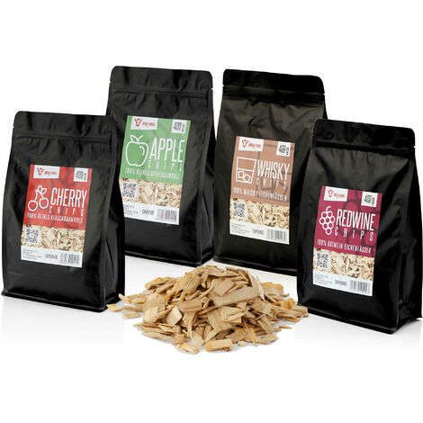 BBQ-Toro Smoker Chips Set | 4 Types smoke chips each 400 g