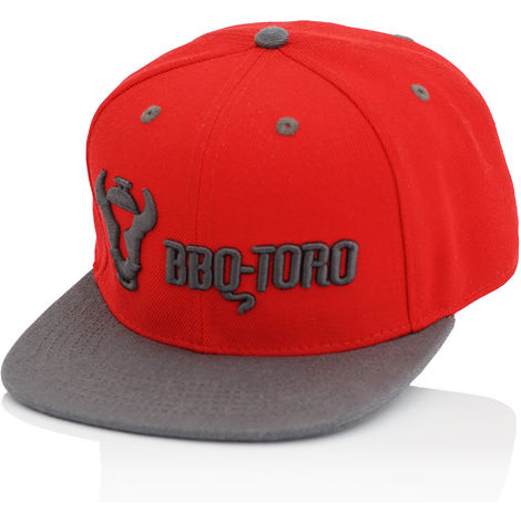 BBQ-Toro Snapback Cap for men and women | adjustable | red with embroidery logo