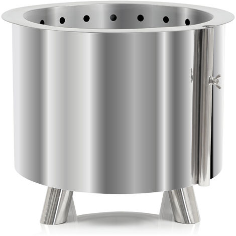 BBQ-Toro stainless steel fire barrel Ø 46 cm | with feet | modern fire basket
