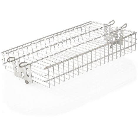 BBQ-Toro stainless steel grill basket for rotisserie, flat basket, height adjustable
