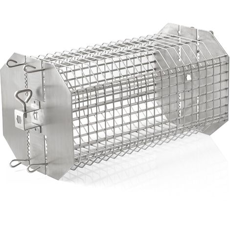 BBQ-Toro stainless steel rondel grill basket for rotisserie spits, height adjustable