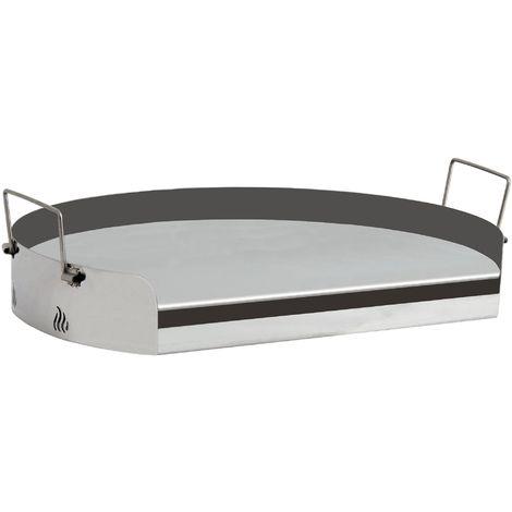 BBQ-TORO universal stainless steel grill plate, BBQ plancha, round