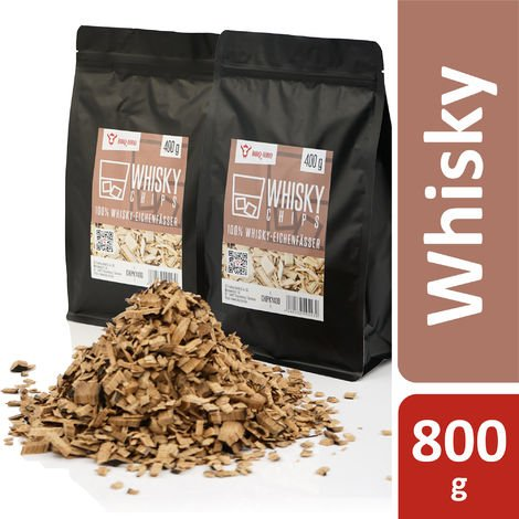 BBQ Toro Whiskey Smoker Chips | 800 g | from 100% whiskey oak barrels
