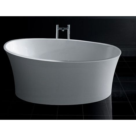 BC Designs Delicata Cian Solid Surface Freestanding Stone Resin Bath 1520mm x 715mm