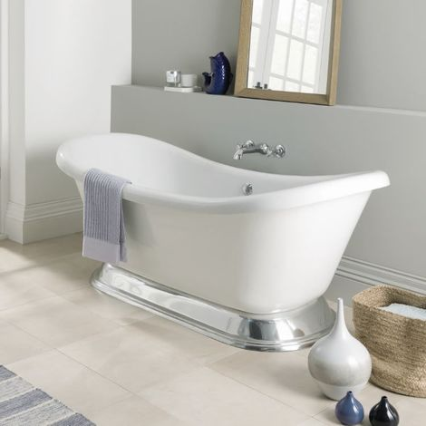 BC Designs Excelsior Acrylic Freestanding Bath with Polished Plinth 1780mm x 760mm