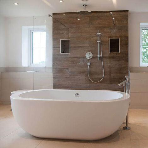 BC Designs Ovali Acrymite Acrylic Freestanding Bath 1805mm x 850mm