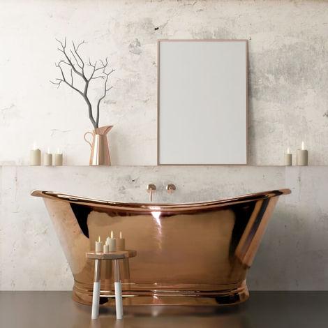 BC Designs Roll Top 1500mm Copper Freestanding Boat Bath