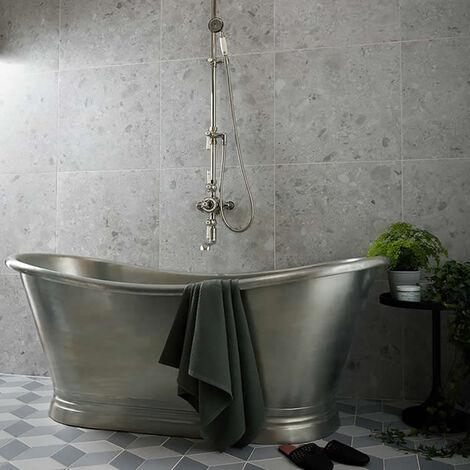 BC Designs Roll Top 1700mm Tin Freestanding Boat Bath