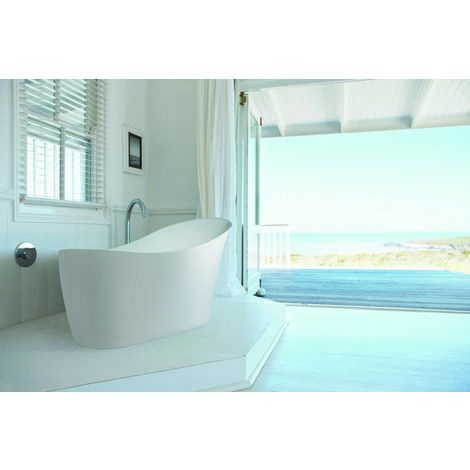 BC Designs Slipp Acrymite Acrylic Freestanding Bath 1590mm x 460mm