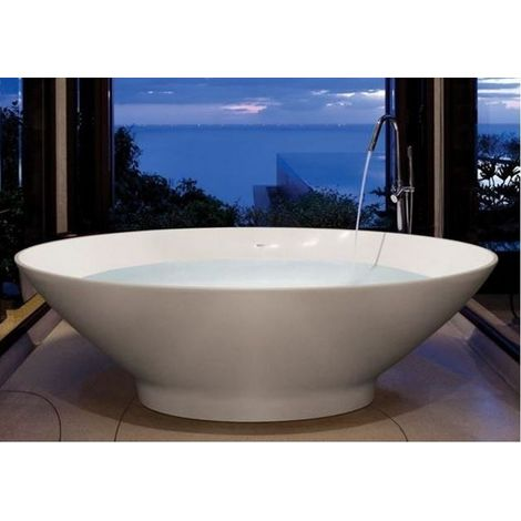 BC Designs Tasse Cian Solid Surface Freestanding Stone Resin Bath 1770mm x 880mm