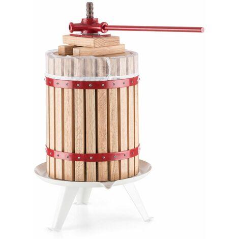 Bc-elec - 12L-FP Presse-fruits et presse-agrumes mécanique de 12L en bois de chêne - Beige