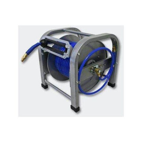 Bc-elec - 34073 Dévidoir automatique Enrouleur de tuyau pneumatique en acier 30m 12bar 12,91mm (1/4'')