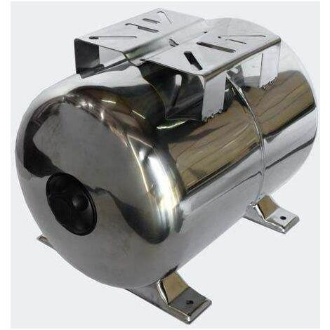 Bc-elec - 50646 Recipiente de expansión de diafragma de presión de acero inoxidable de 100L. - Negro