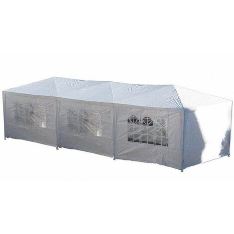 Bc-elec - 5300-0006 Gazebo Tienda Carpa Pabellón Pérgola con paredes laterales 3x9m
