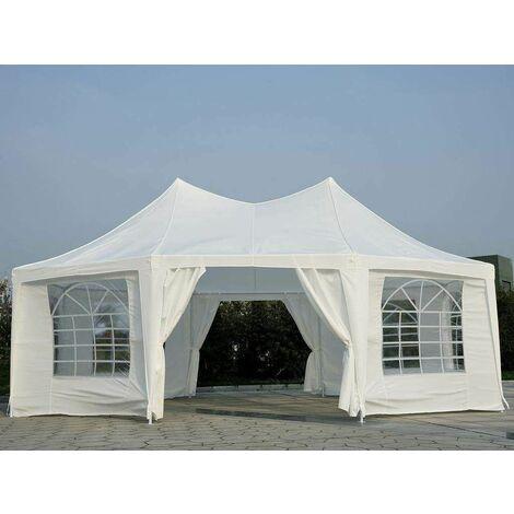 Bc-elec - 5300-0010 Cenador para jardín, carpa de recepciones, Pabellón Octagonal, 6,8X5 m versión LUJO 45 personas