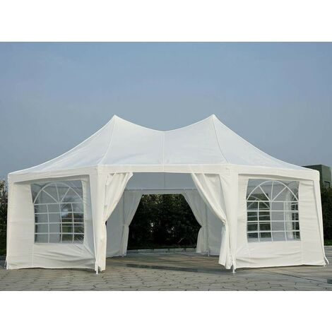 Bc-elec - 5300-0010 Gazebo, reception tent, garden pavilion Octognal, 6,8X5 m LUXE version, 45 people