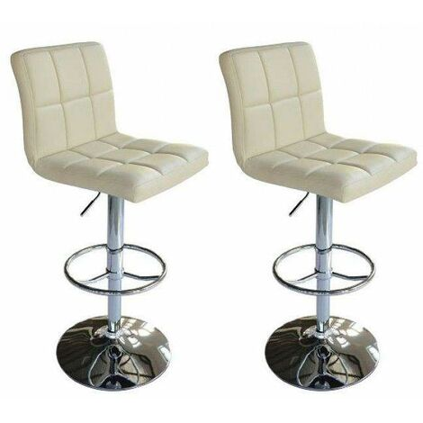 Bc-elec - 5550-3401-BC-DUO SET OF 2 FAUX LEATHER PU METAL BASE BAR STOOL KITCHEN BREAKFAST BAR CHAIR