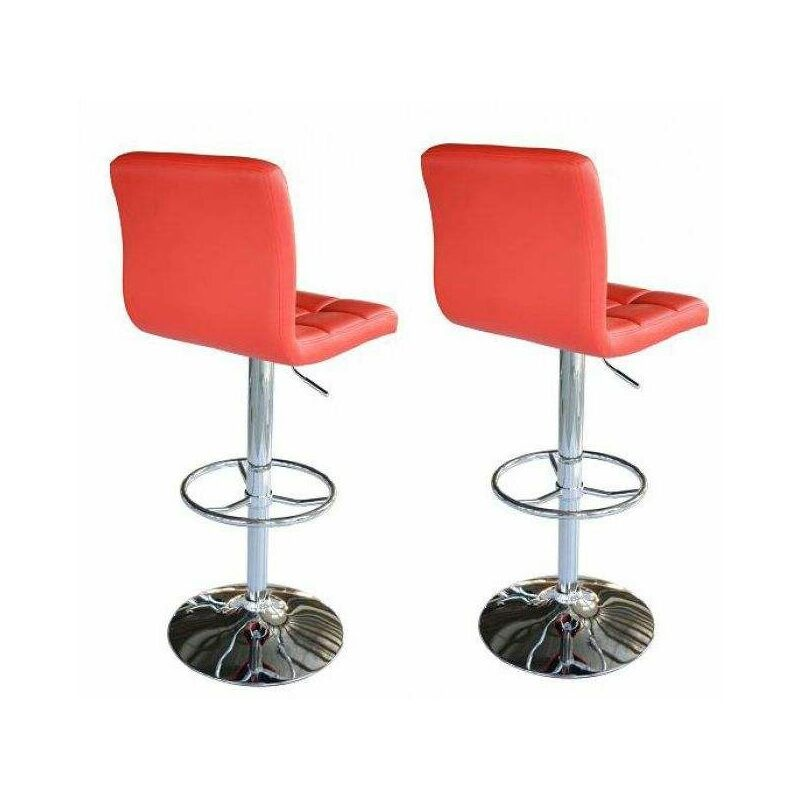 Simili Re 3401 Cuir Tabourets 5550 Elec RéglableRevêtement Duo Rouge Chaises De Bc Bar BarHauteur Paire E2ID9WHY