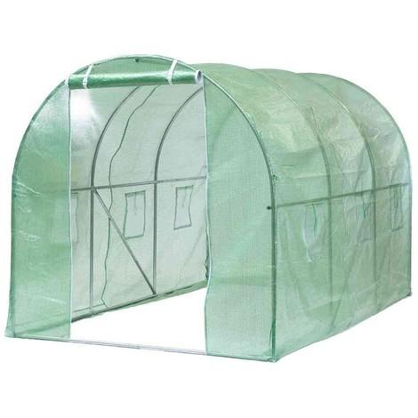 Bc-elec - 5662-0501 Garden tunnel greenhouse 3.5m x 2m x 2m (L x W x H)