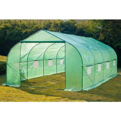 Bc-elec - 5662-0502 Invernadero de jardín SerreTunnel 6 secciones 6x3x2m 18m ²
