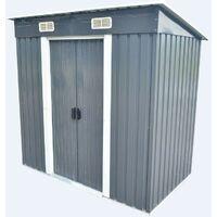 Bc-elec - 5662-0503 Metal garden shed 121 x 194 x 181cm