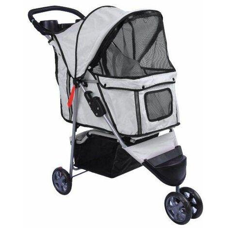 Bc-elec - 5663-0015Agrey Poussette pour animaux à 3 roues, coloris gris