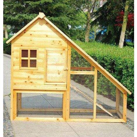 Bc-elec - 5663-0553 Jaula para conejos, cobertizo de madera con puerta y cajón, 136 x 118 x 61cm