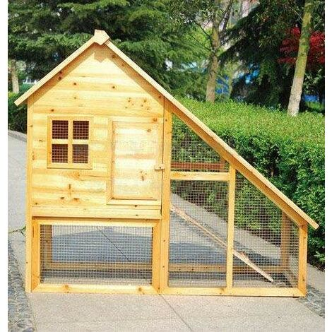 Bc-elec - 5663-0553 RABBIT HUTCH GUINEA PIG FERRET HOUSE POULTRY LARGE BOX HEN HOUSE PINE WOOD