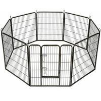Bc-elec - 5663-1305 Parc à Chiots, enclos pour chiens et autres animaux, 8 panneaux 80x80, modulable