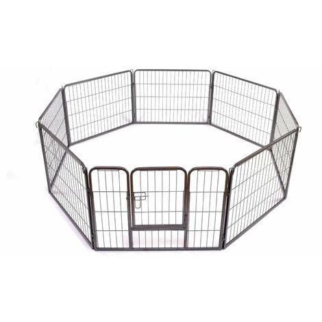 Bc-elec - 5663-1306 HEAVY DUTY PET PLAYPEN PUPPY RABBIT CAGE PEN FOLDABLE 8 SIDES ENCLOSURE 80X60CM
