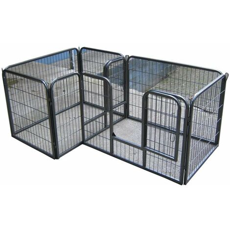 Bc-elec - 5663-1590 HEAVY DUTY PET PLAYPEN FOR DOG PUPPY RABBIT CAGE RUN PEN PORTABLE FOLDING PEN