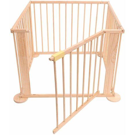 Bc-elec - 5664-0058YLB Baldosas de madera para juegos infantiles 3.6m, 4 paneles 70x90cm - Beige
