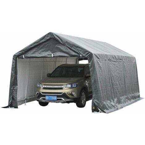 Bc-elec - 578-011 Aussencarport, Autozelt, Garagenzelt 6x3,6x2,75m - Grau