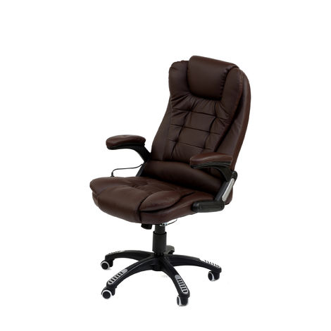 Bc-elec - A2-0056 BROWN HIGH QUALITY 6 POINT LEATHER OFFICE COMPUTER CHAIR DESK CHAIR