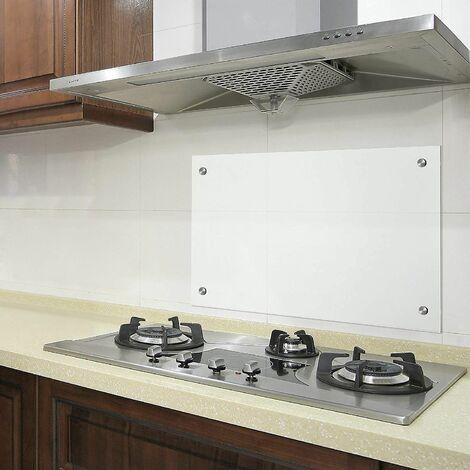 Bc-elec - AKG06-7050 Küchencredenza aus Klarglas 70x50cm, gehärtetes Sicherheitsglas 6mm, Spritzschutz, Haubenboden