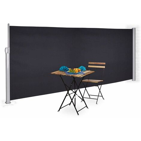 Bc-elec - ASA-180T Side awning anthracite grey 3x1.8m retractable for terrace, garden privacy scree