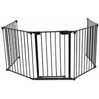 Bc-elec - B101201 Barrière de sécurité grille de protection pour enfants pour cheminée et escaliers longeur totale 3 mètres
