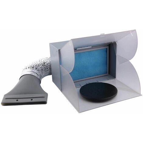 Bc-elec - BD-512 Mini Cabine de Peinture Cabine d'aspiration 3m³/min, éclairage LED et tuyau d'évacuation - Gris