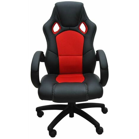 Bc-elec - bs11010-4 SPORTS RACING GAMING STYLE OFFICE COMPUTER LUXURY CHAIR PU LEATHER ADJUSTABLE