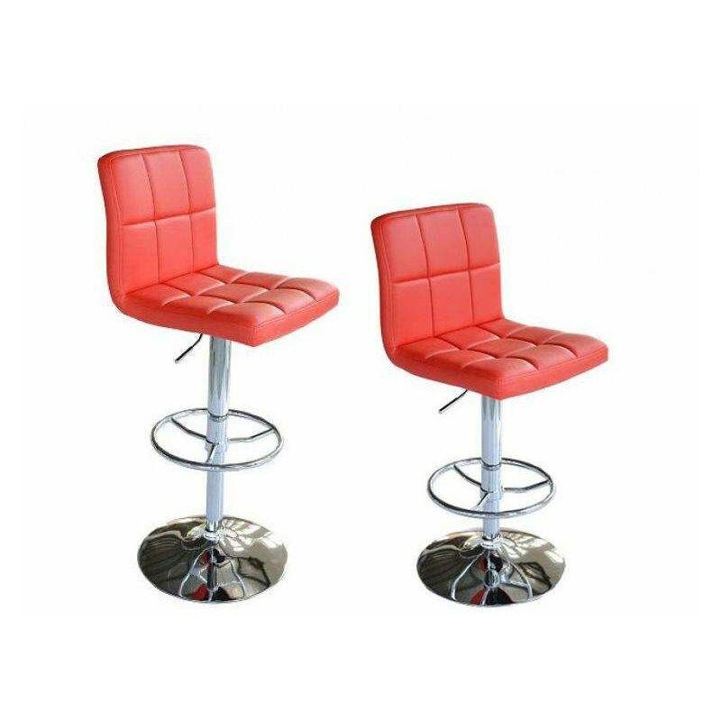 Bc elec coppia di sgabelli alti sedie da bar regolabile in