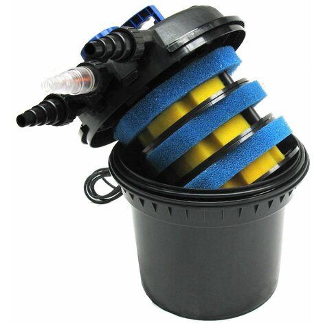 Bc-elec - CPF-250 Filtro de presión de accionamiento mecánico y biológico hasta 11000L - Lampara UV 1W