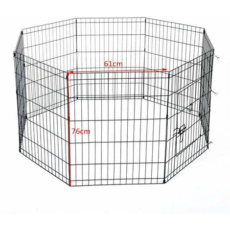 Bc-elec - D06-020A HEAVY DUTY PET PLAYPEN PUPPY RABBIT CAGE PEN FOLDABLE 8 SIDES ENCLOSURE 76X61CM