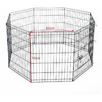Bc-elec - D06-020A Parc à Chiots, enclos pour chiens et autres animaux, 8 panneaux 76x61, modulable