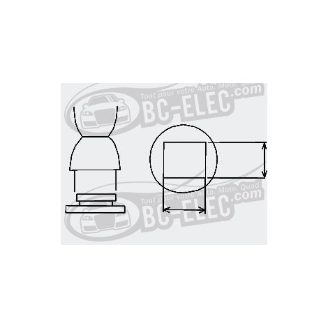 Bc-elec Embout à air chaud BGA, carré 35mm*35mm