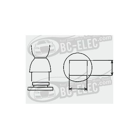 Bc-elec Embout à air chaud BGA, carré 40mm*40mm