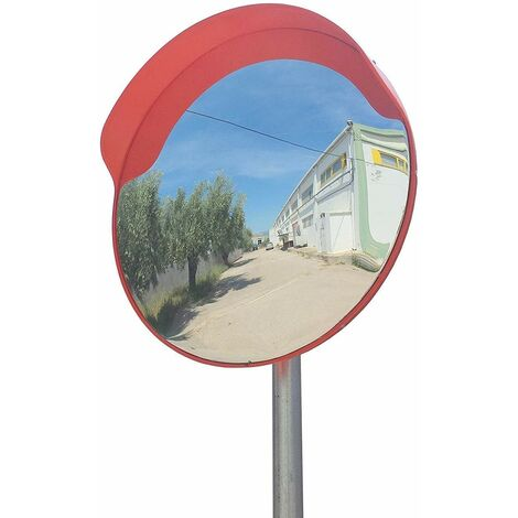 Bc-elec - GTM30-1 Convex traffic mirror 30cm, safety mirror, external traffic mirror for pole from 45 to 54mm