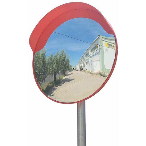 Bc-elec - GTM30-1 Miroir de trafic convexe 30cm, miroir de sécurité, miroir extérieur de circulation pour poteau de 45 à 54mm