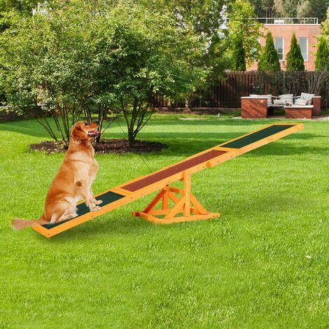 Bc-elec - HCWS Balançoire à bascule pour chien agility agilité entraînement et dressage chien 180x30cm