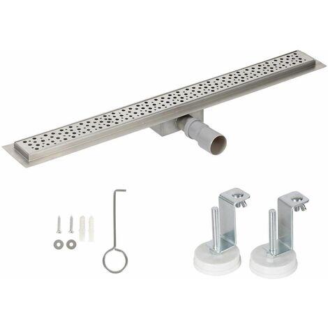 Bc-elec - HFD06-100 Canal de ducha 100cm en acero inoxidable, ducha estereofónica, altura regulable 67-92mm - Gris
